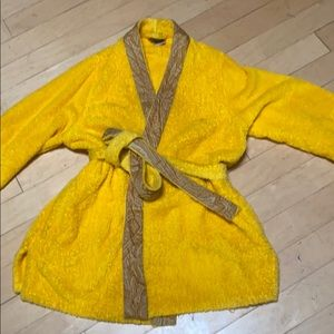 ETRO home collection yellow terry robe short M